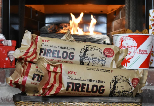 KFC Put Its 11 Herbs Spices into a Firelog for Christmas