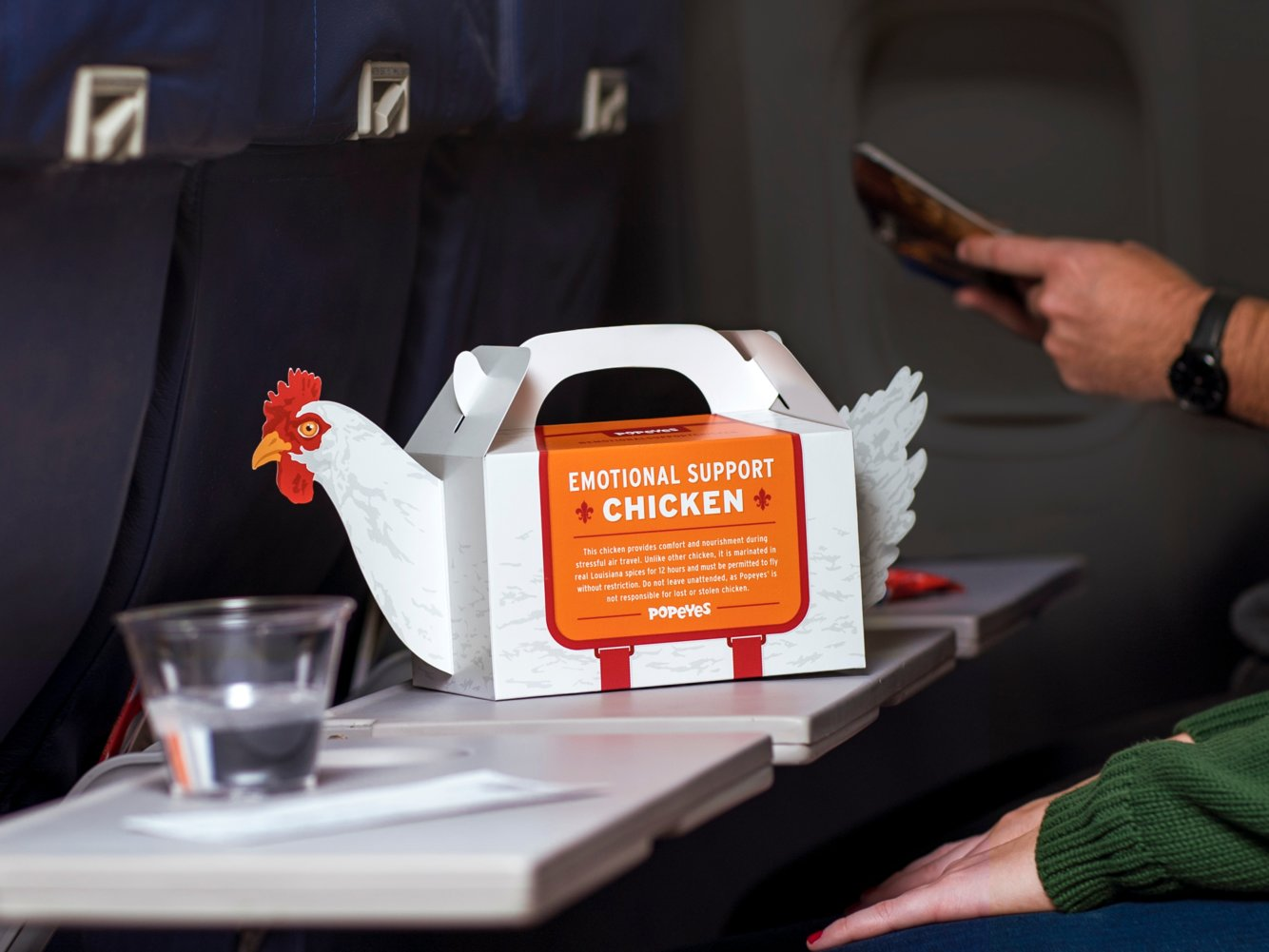 Popeyes is launching 'Emotional Support Chicken' for stressed travelers craving fried chicken