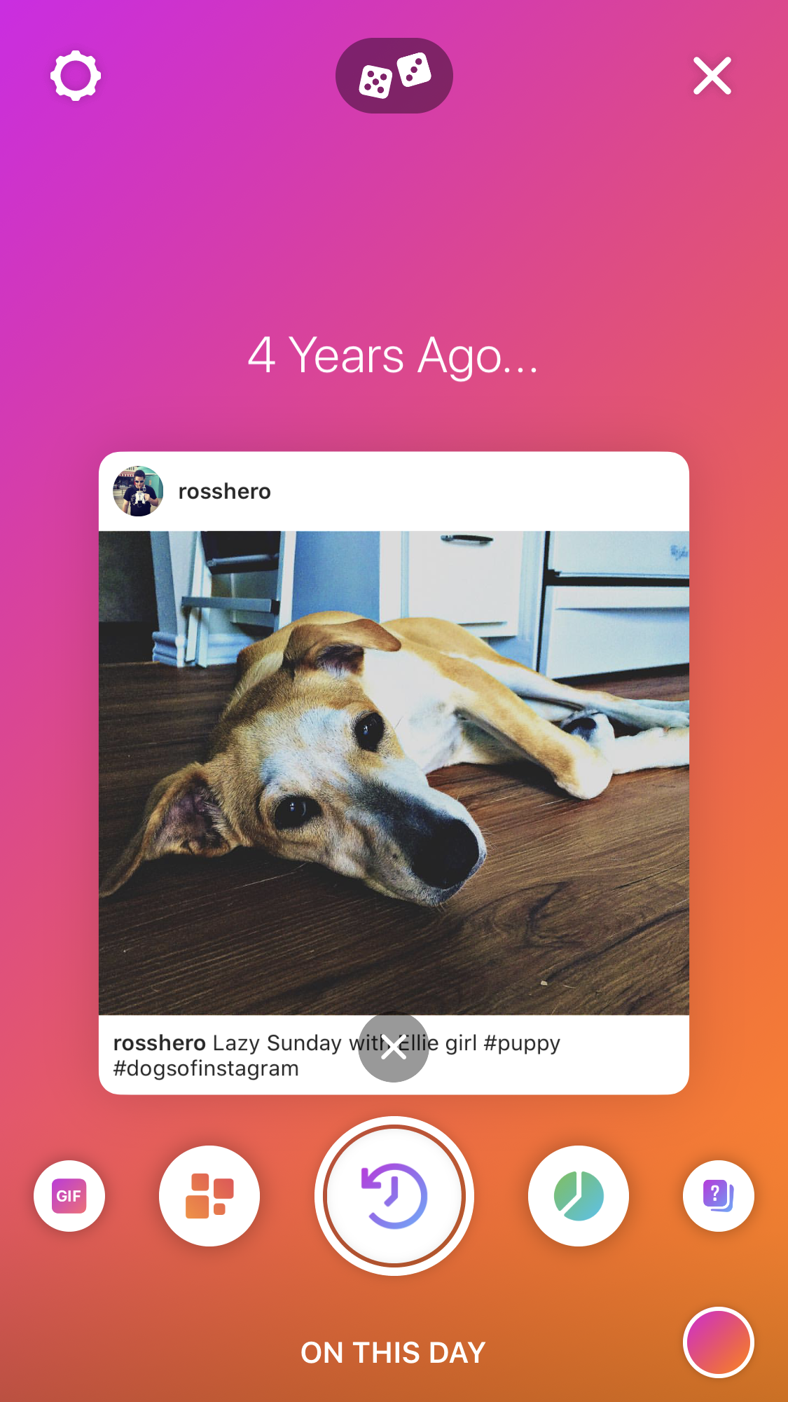 "Instagram ""Create"" Mode - On This Day"