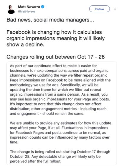 Facebook Tweaks Algorithm | Matt Navarra