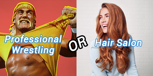 Professional Wrestling OR Hair Salon