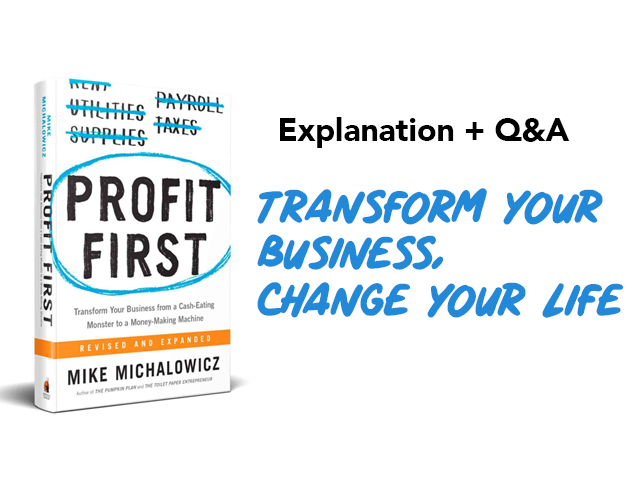 Profit First Livestream + Q&A   Tricycle Creative + North Bay Bookkeeping